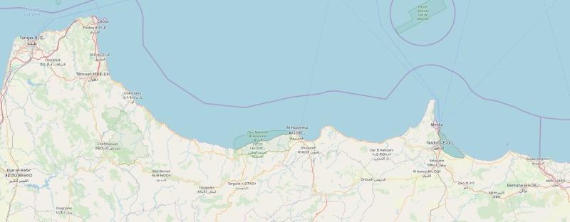 Marokko Mittelmeerküste Karte